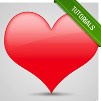 How To Create A Cool Glossy Shiny Web 2.0 Heart in Photoshop