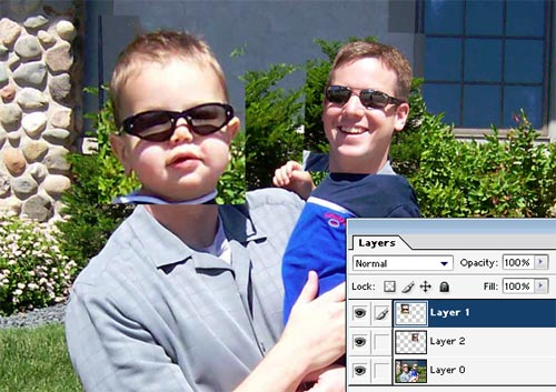 how to make a see through image on photoshop